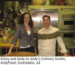 Ginny and Andy at Andy's Culinary Studio, AndyFood, Scottsdale, AZ